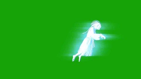 Terrifying Ghost Hangman Horror Green Screen Side 3D Rendering