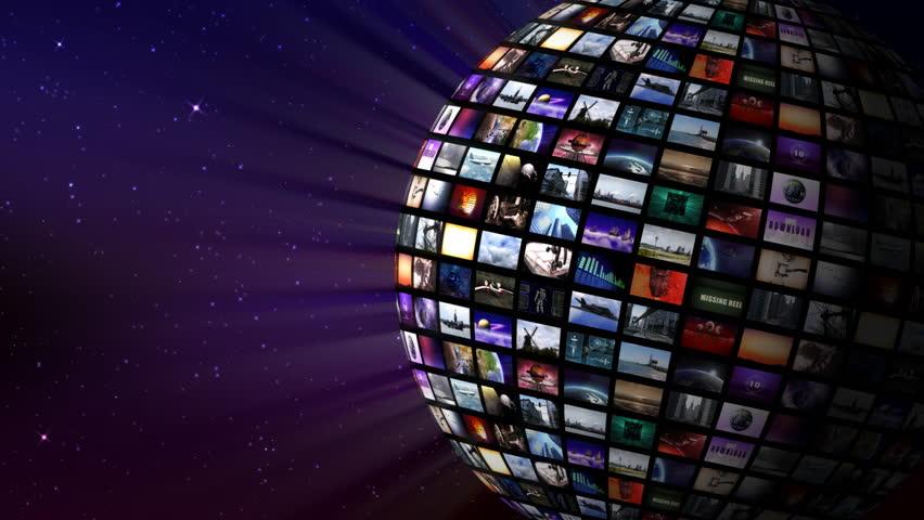 Rotating video sphere in space | Shutterstock HD Video #2530412