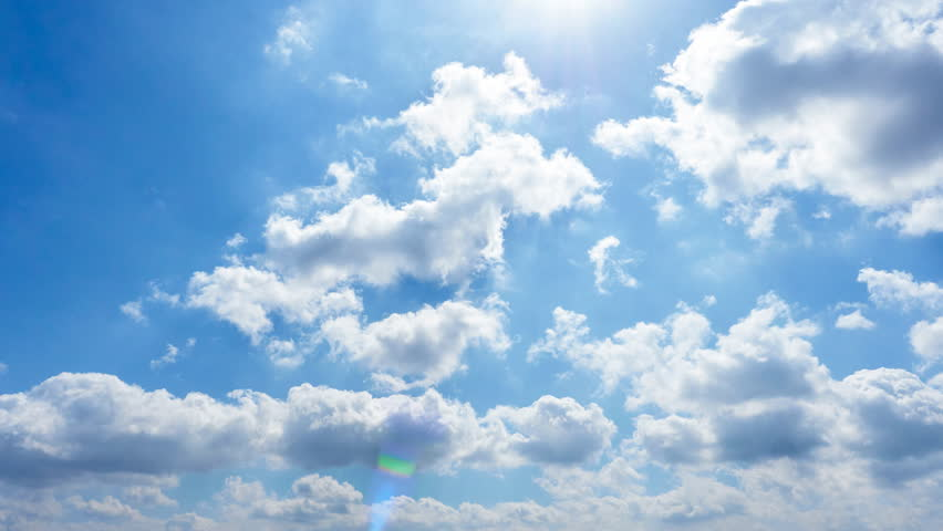 The Clear Sky With A Cloud Stock Footage Video 29563897 ...