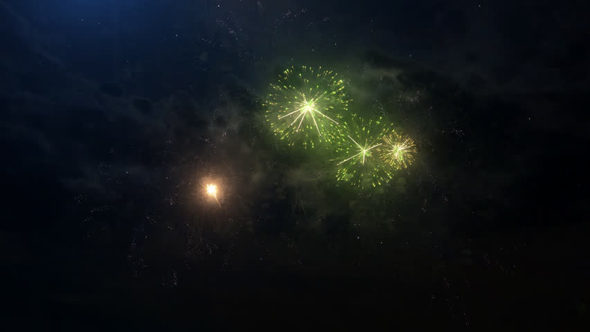 A set of slow motion fireworks on black background, isolated sequence animation without cropping, collage of colorful fireworks exploding in the night sky. | Shutterstock HD Video #25340912