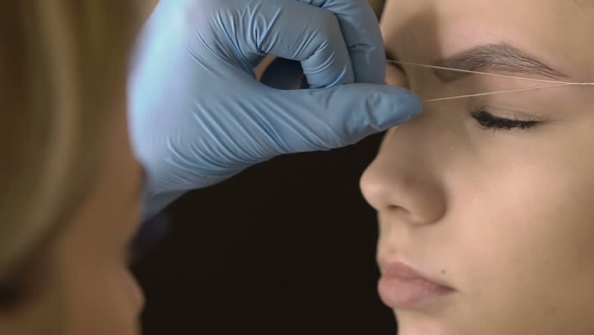 Eyebrow Threading Stock Video Footage 4k And Hd Video Clips