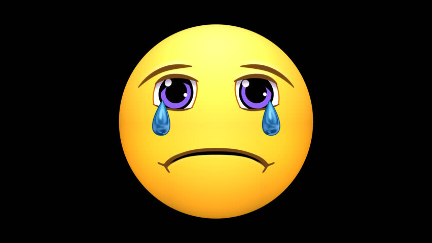 Emojis. Sad, Crying, Angry Faces, starting from Happy. (Note: 4K version has alpha channel - see clip 25627709 for HD version with alpha.) Options of loop-able sections, or pausing the action. | Shutterstock HD Video #25351232