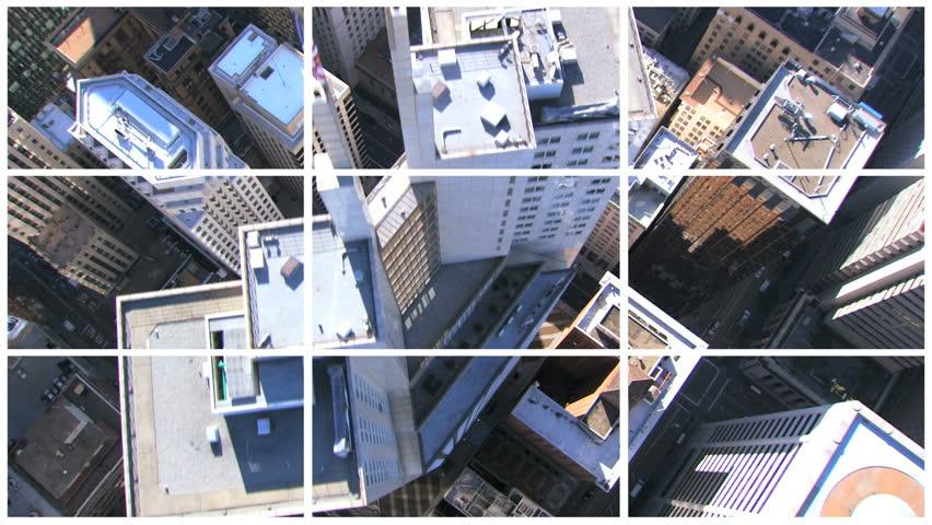Multiple film images of skyscrapers city bridges and suburban San Francisco, North America #2540057