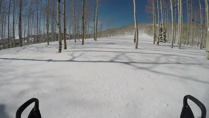 5614b25f91e01d Snowmobile POV climb mountain forest winter snow POV. Trail ride forest  high speed central Utah winter. Fun exploring the wilderness.