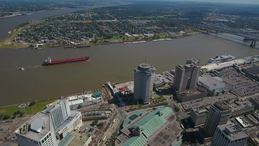 Aerial Louisiana New Orleans September 2016 4K