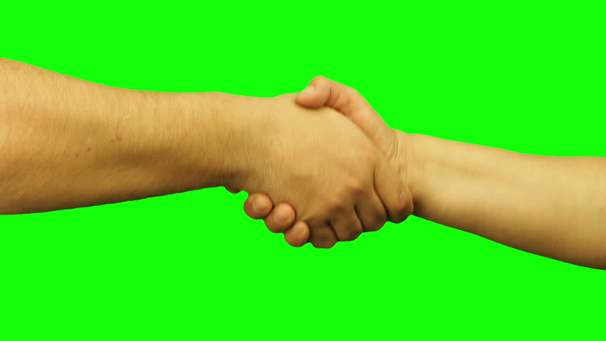 Male and female hands handshaking isolated green screen | Shutterstock HD Video #25475912