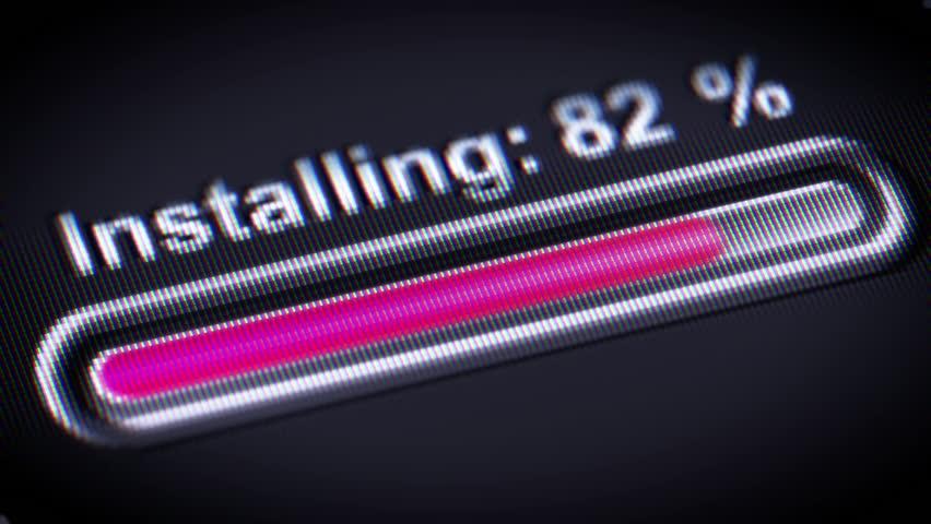 Process of Installing on a screen.   Shutterstock HD Video #25484462