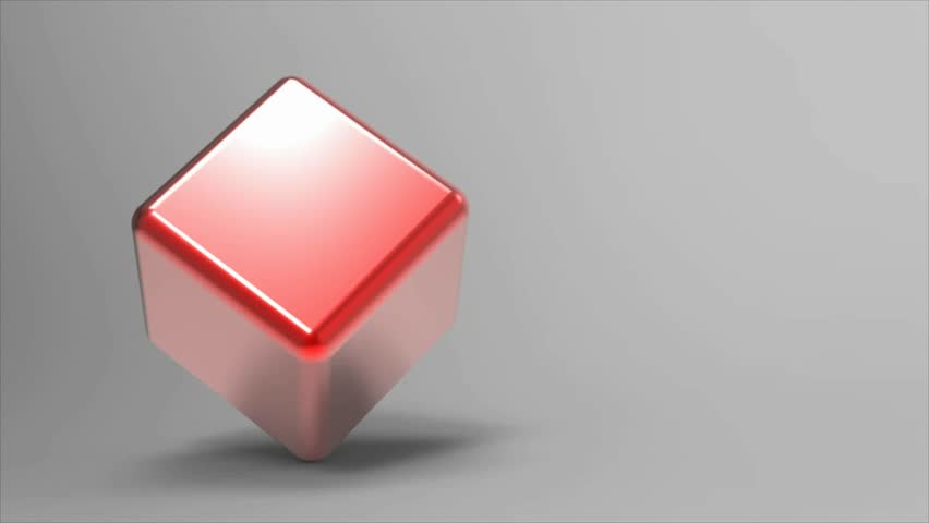 Red Cube - rotating seamless loop
