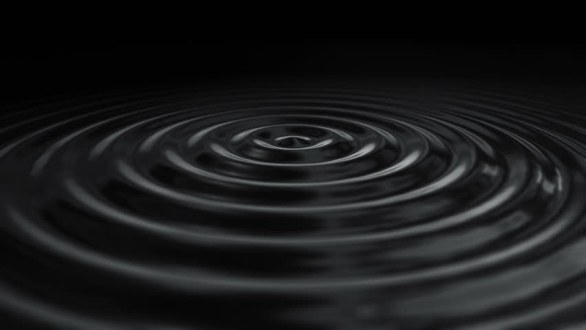 Beautiful water surface. Abstract background with animation waving and rippling liquide surface. Animation of seamless loop.