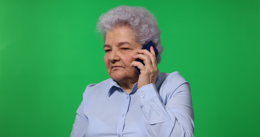 Retiree Lady Receive Bad News Talk Son on Mobile Phone Old Woman Chat Discussion | Shutterstock HD Video #25541582