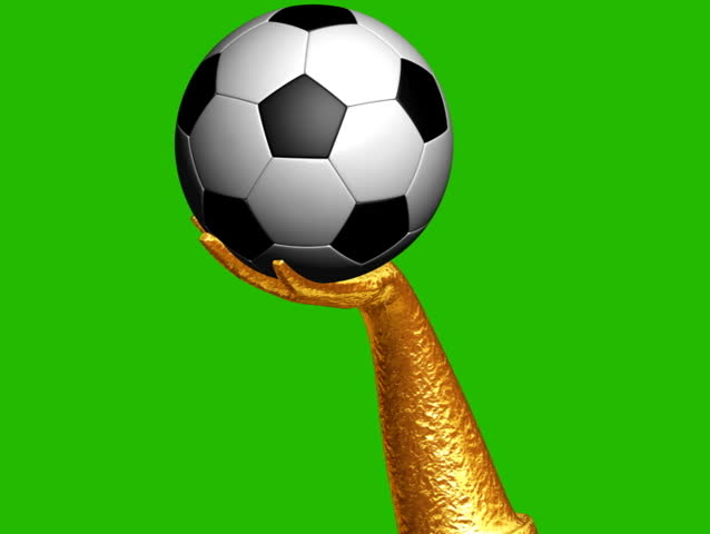2362d5f1a Soccer Ball Rotating On Golden Stock Footage Video (100% Royalty ...