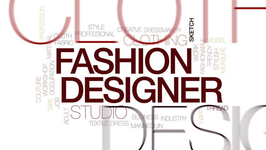 fashion designer animated word cloud stock footage video