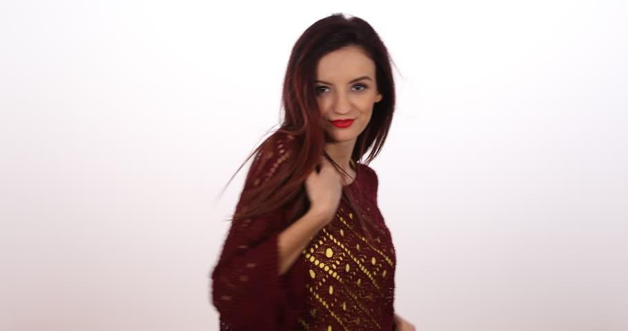 Attractive Woman Dancing Sexy Moves Sensual Girl Dance Music Seductive Movement