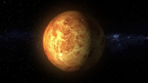 animation of the planet Venus in the space