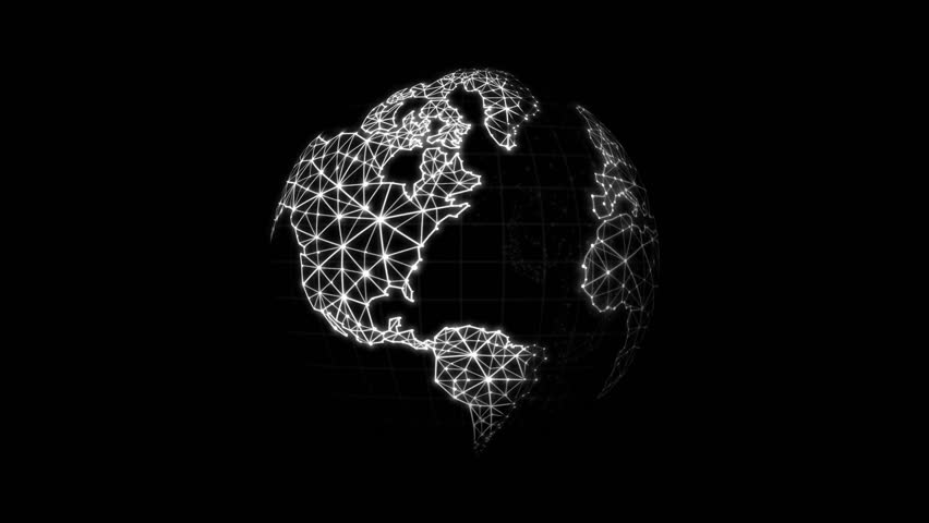 World map with connection line for futuristic network connect world map with connection line for futuristic network connect concepts over black background 4k stock gumiabroncs Images