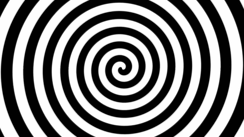 Black and white hypnosis spiral | stock clip #2569472 ...