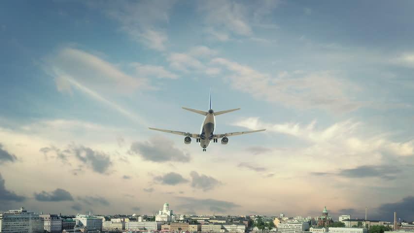 Airplane Landing Helsinki Finland