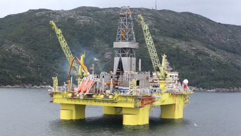 Oil Platform Norway Stock Video Footage - 4K and HD Video
