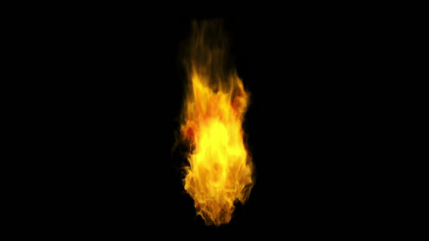 Perfectly looped fire with Alpha channel  matte. | Shutterstock HD Video #2574740