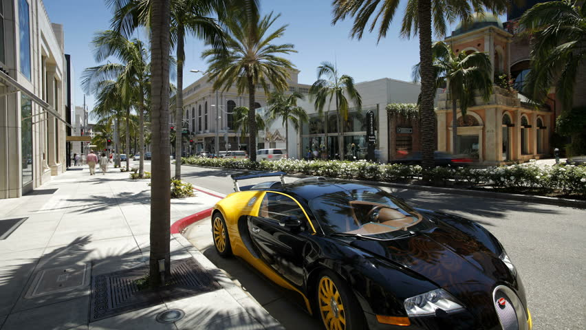LOS ANGELES - CIRCA MAY 2011: shot of vehicles on Rodeo Drive, Beverly Hills