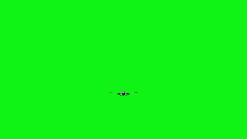 Computer rendering of the flying jumbo jet plane with green screen. Chromakey | Shutterstock HD Video #25752572