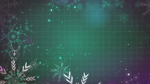 Gentle Christmas  snowflakes seamlessly loop-able Background animation