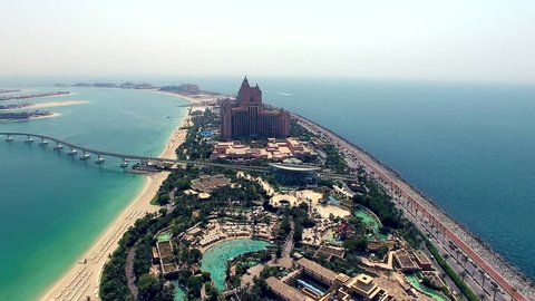 Atlantis, Dubai aerial approaching