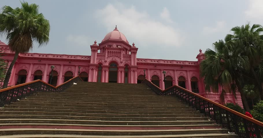 Dhaka bangladesh tourism museum landmark ahsan manzil pink palace | Shutterstock HD Video #25806812