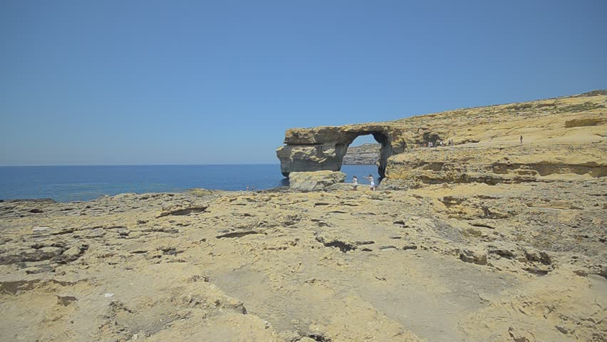 Natural rock arch on Gozo / Azure window/ Azure window natural sea arch in Gozo Island, Malta.