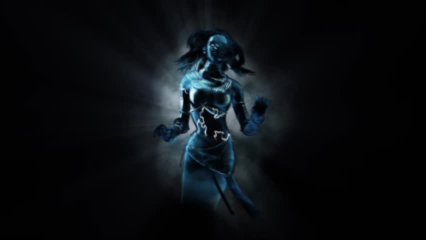 Woman Ghost Divinity Mod 3 Alpha Matte 3D Rendering Animation