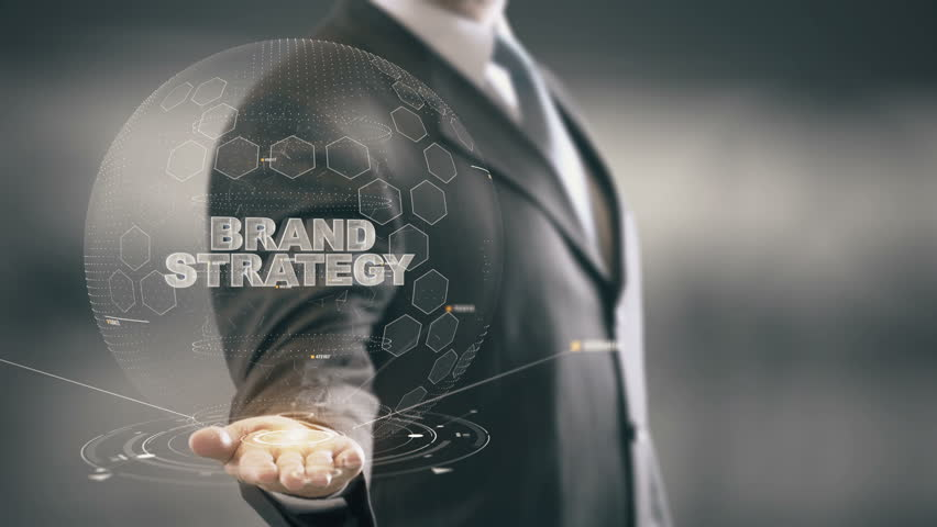 Brand Strategy with hologram businessman concept | Shutterstock HD Video #25884032