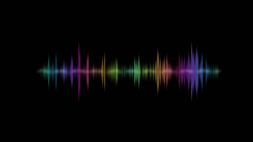 Colored Audio waves animation