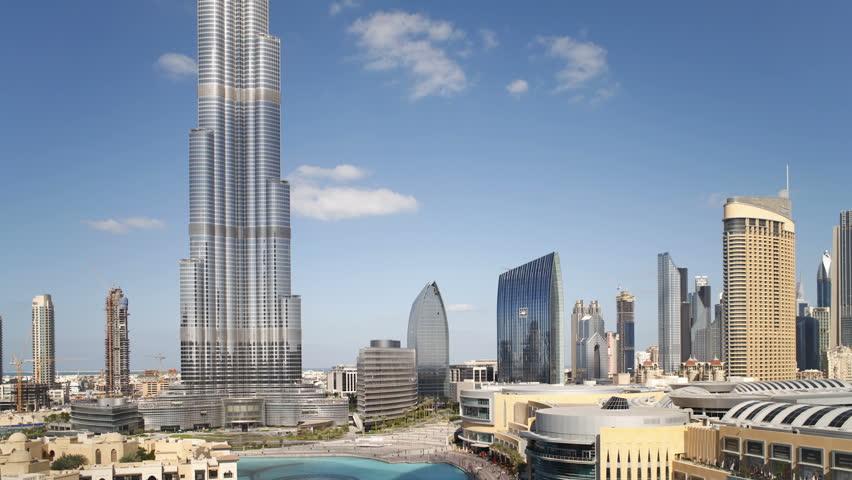 DUBAI, UNITED ARAB EMIRATES - CIRCA MAY 2011: Futuristic Modern Design Structure, the Burj Khalifa shot in the afternoon