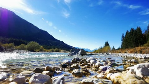 Isar Valley between Wallgau and Fall, Bavaria, Germany, Europe
