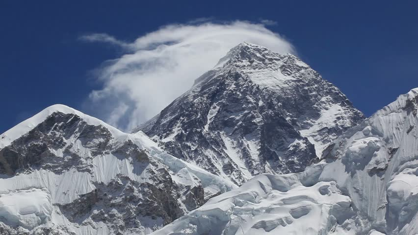 Mount. Everest, 8845m highest mountain.