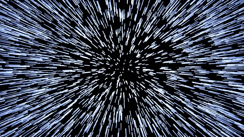 jump to light speed like a hyperspace effect in star wars