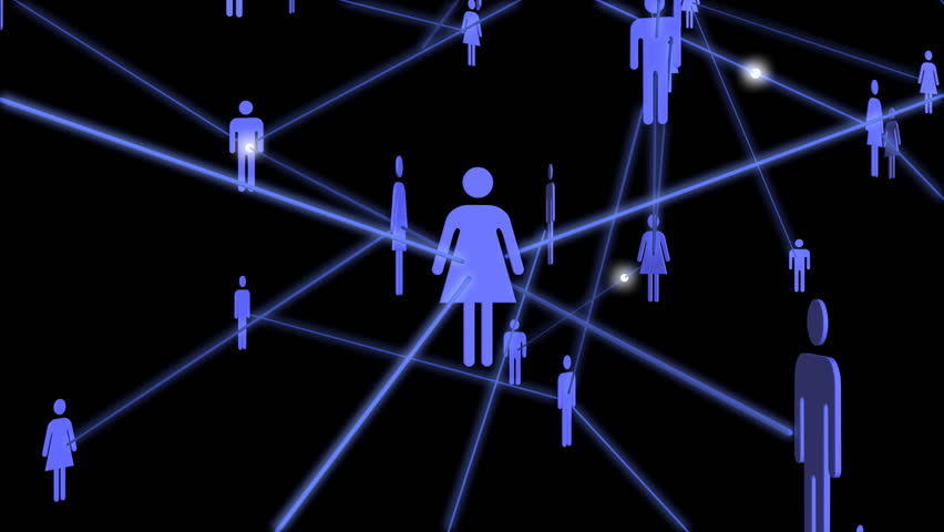 A 3D network of people passing messages to each other. | Shutterstock HD Video #2602322