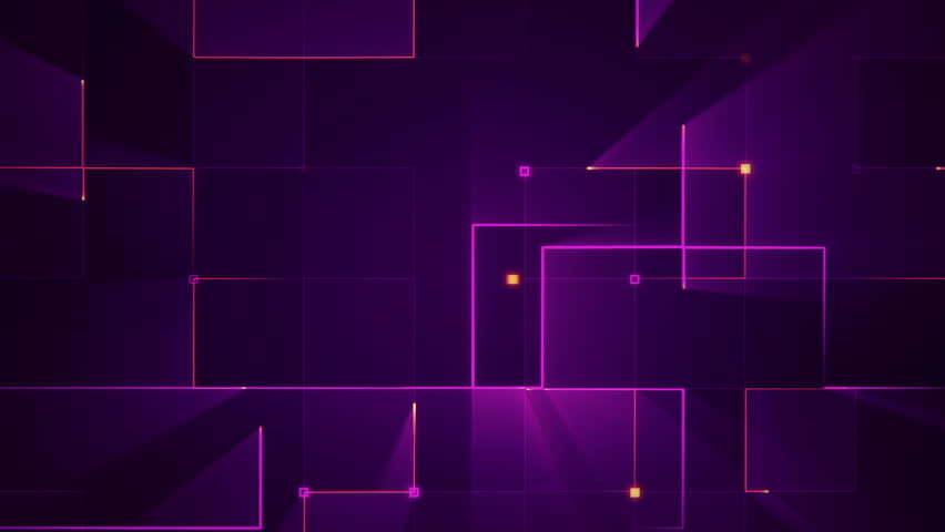 Abstract technologic background with stripes and particles. Animation of circuit electric signal with light shine. Animation of seamless loop. | Shutterstock HD Video #26044712