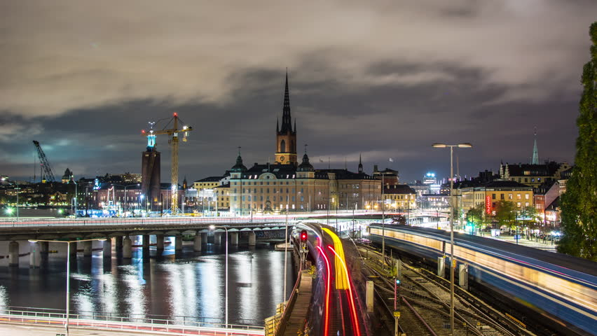 Stockholm City At Night 4k Stock Footage Video 100 Royalty Free 26062682 Shutterstock