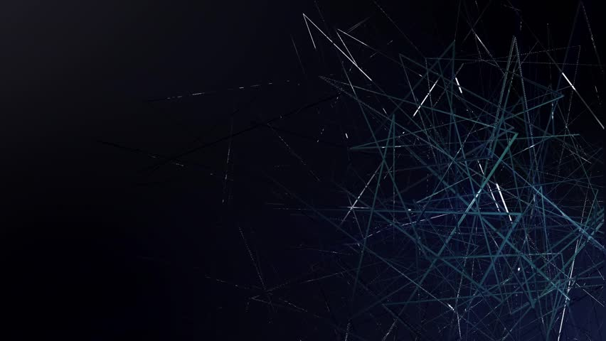 4k abstract mysterious polygon particles background