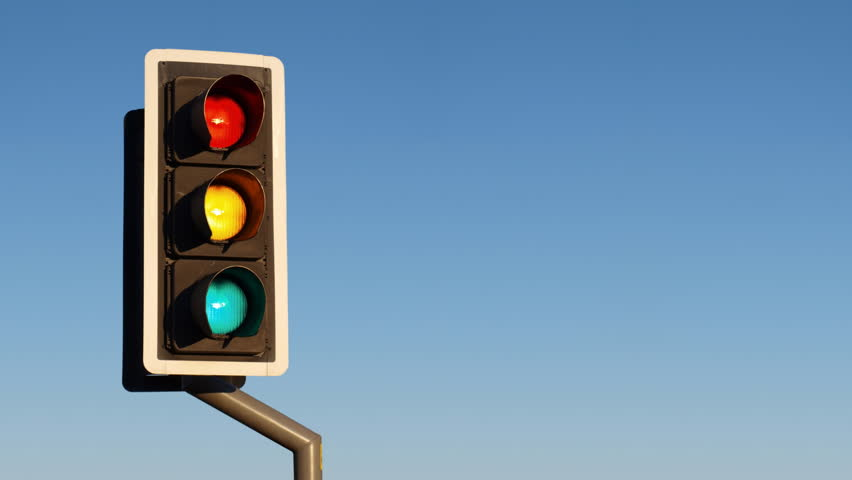uk style traffic lights the lights show the correct sequence plus two impossible states all on and all off stock footage video