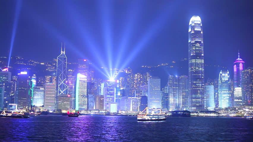 Hong Kong at night. Timelapse | Shutterstock HD Video #2611892