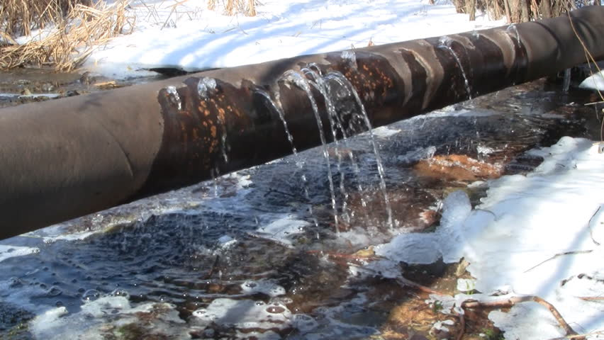 Water Leaking From Old Rusty Water Supply Pipe Stock Footage Video ...
