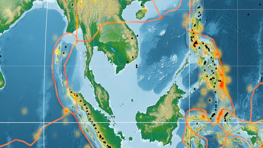 Burma Tectonic Plate Featured Animated Stock Footage Video (100 ...