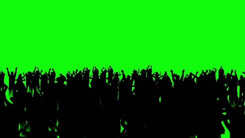 People Crowd Dance Top Discotheque Green Screen 3D Rendering Animation #26202842