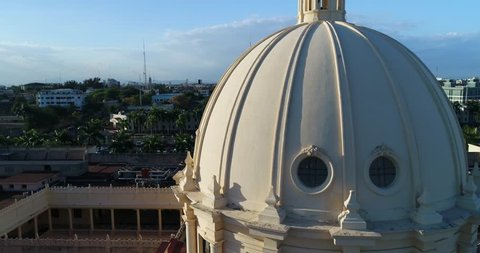 Aerial Footage of Santo Domingo, Dominican Republic