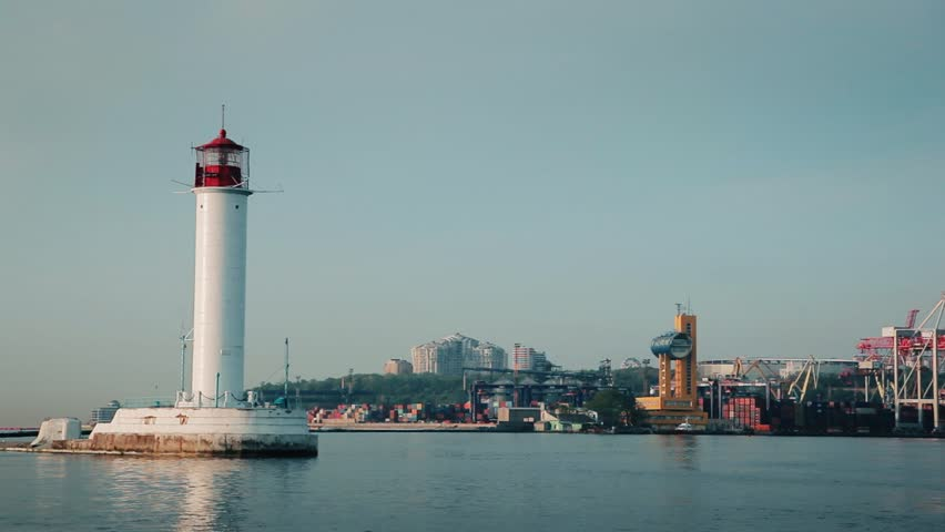 Sea Port of Odessa  Lighthouse  Stock Footage Video (100% Royalty-free)  26213732 | Shutterstock