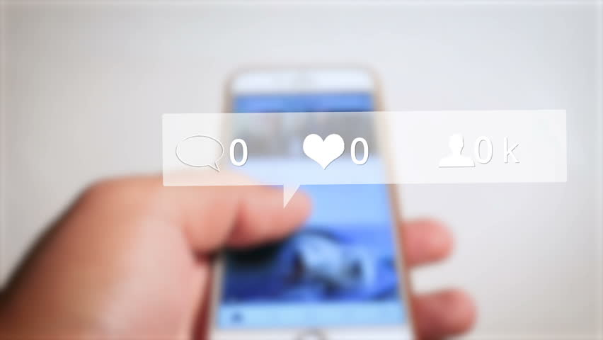 Instagram likes comments followers increasing numbers | Shutterstock HD Video #26305712