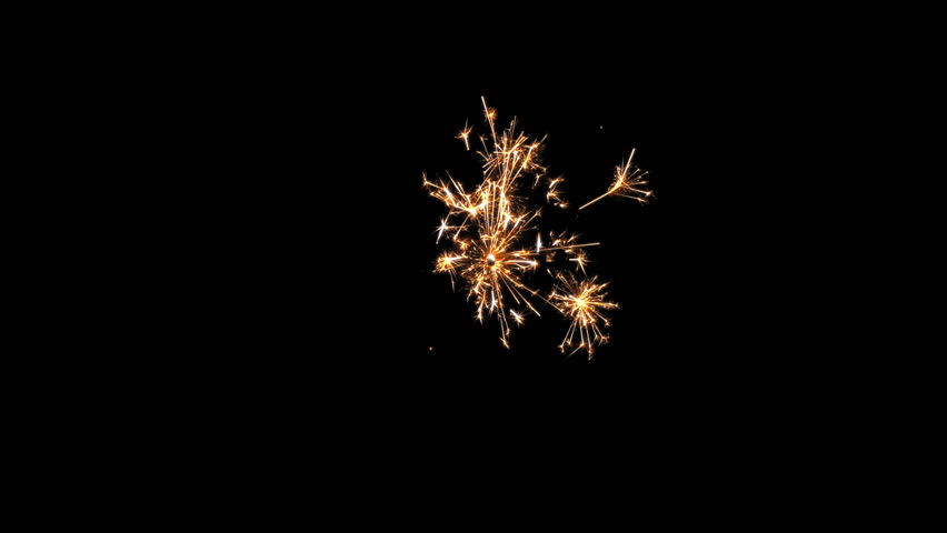 Sparkler Over Black. Gun powder sparks shot against deep dark background. | Shutterstock HD Video #26308292