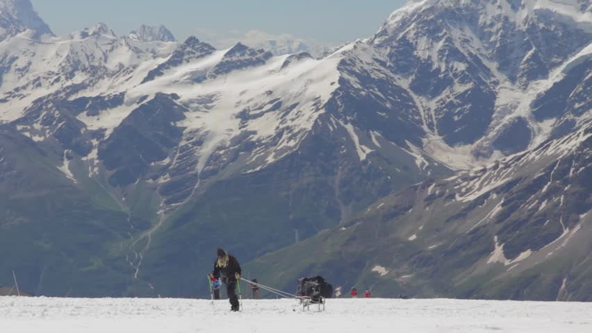 Climbing to the top of Elbrus | Shutterstock HD Video #26323124